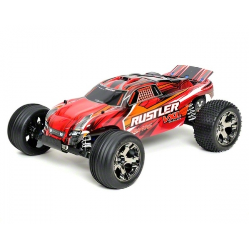 traxxas rustler vxl brushless rtr stadium truck wtqi 24ghz battery wall charger