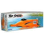 AquaCraft Top Speed 3 Competition Nitro Fiberglass Tunnel Hull Boat Kit ARR (Orange)