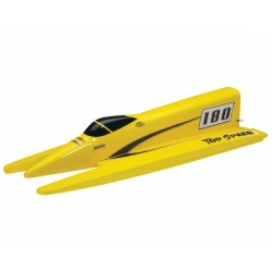 AquaCraft Top Speed 3 Competition Nitro Fiberglass Tunnel Hull Boat Kit ARR (Yellow)