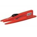 AquaCraft Top Speed 3 Competition Nitro Fiberglass Tunnel Hull Boat Kit ARR (Red)