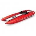 "Traxxas DCB M41 Widebody 40"" Catamaran High Performance 6S Race Boat (Red) w/TQi 2.4GHz Radio & TSM"
